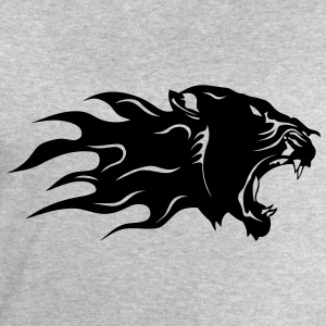 Panther black profile flame 3003 T-Shirts - Men's Sweatshirt by Stanley & Stella