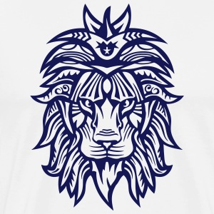 lion super tribal gueule roi jungle Tabliers - T-shirt Premium Homme
