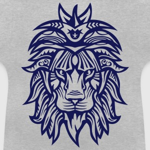 lion super tribal gueule roi jungle Tee shirts - T-shirt Bébé