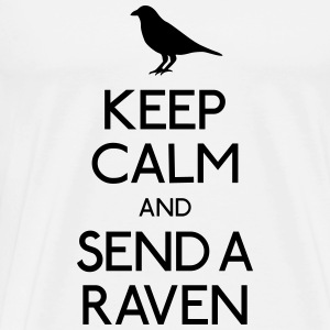 Keep Calm Raven Topper - Premium T-skjorte for menn