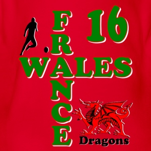 Wales Dragons 16 Shirts - Organic Short-sleeved Baby Bodysuit