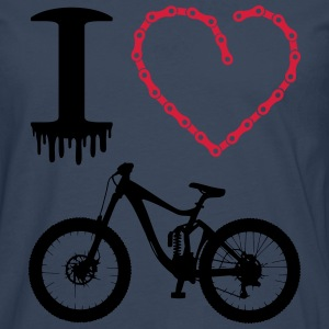 i love my bike Neon Cross Country Downhill T-Shirt - Männer Premium Langarmshirt