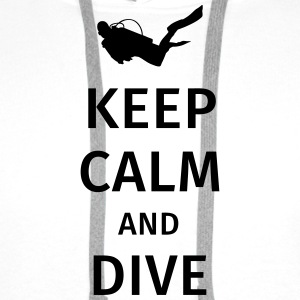 keep calm and dive Kopper & tilbehør - Premium hettegenser for menn