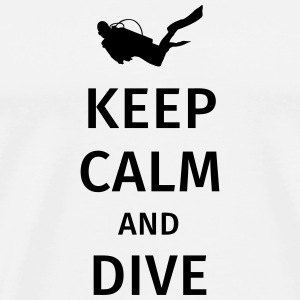 keep calm and dive Krus & tilbehør - Herre premium T-shirt