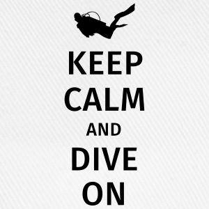 keep calm and dive on Camisetas - Gorra béisbol