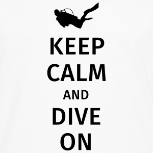 keep calm and dive on Camisetas - Camiseta de manga larga premium hombre