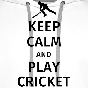 keep calm and play cricket T-shirts - Premiumluvtröja herr