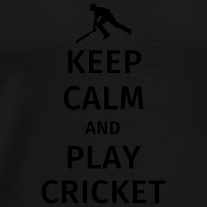 keep calm and play cricket Mokken & toebehoor - Mannen Premium T-shirt