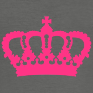 Crown King Queen Prinz Princess Royal pink Bags & Backpacks - Men's Slim Fit T-Shirt