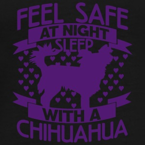 Feel safe at night – Chihuahua Bags & Backpacks - Men's Premium T-Shirt