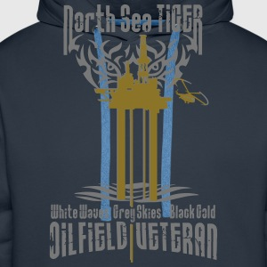 Oil Rig Oil Field Veteran T-Shirts - Men's Premium Hoodie
