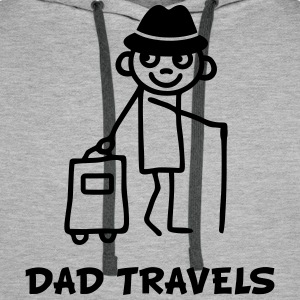 Dad travels T-Shirts - Men's Premium Hoodie