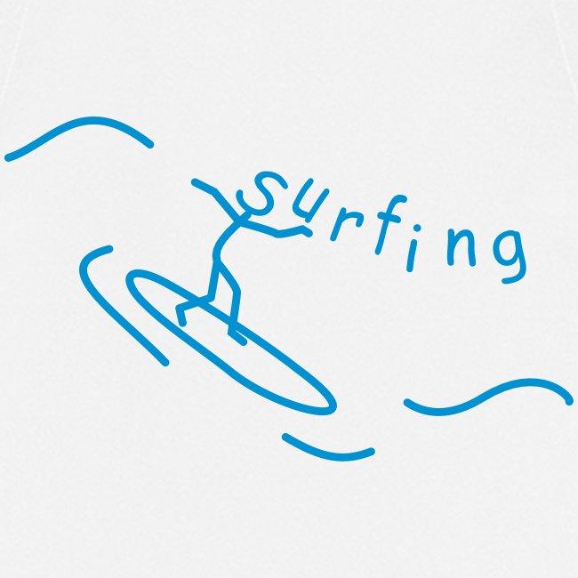 Strichmännchen Surfing