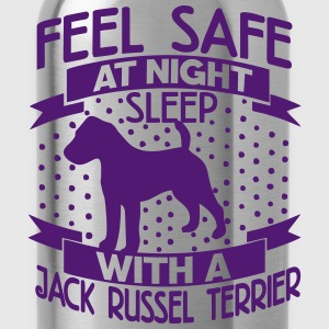 Feel safe at night - Jack Russell Terrier T-Shirts - Water Bottle