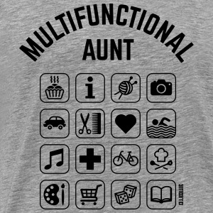 Multifunctional Aunt (16 Icons) Long Sleeve Shirts - Men's Premium T-Shirt