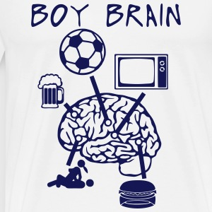 boy brain football TV beer sex quote eat Hoodies & Sweatshirts - Men's Premium T-Shirt