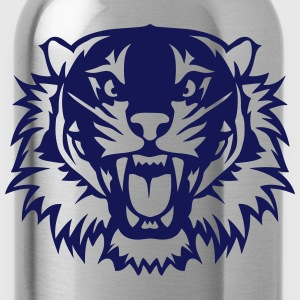 Tiger fierce open mouth 2303 T-Shirts - Water Bottle