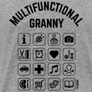 Multifunctional Granny (16 Icons) Hoodies & Sweatshirts - Men's Premium T-Shirt