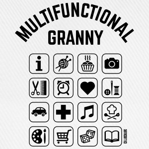 Multifunctional Granny (16 Icons)  Aprons - Baseball Cap
