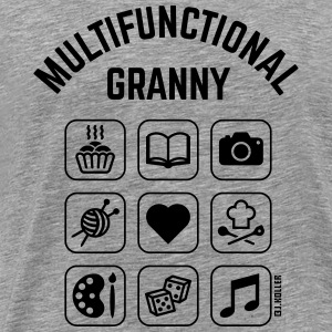 Multifunctional Granny (9 Icons) Hoodies & Sweatshirts - Men's Premium T-Shirt