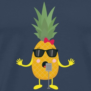 Singing pineapple Long Sleeve Shirts - Men's Premium T-Shirt
