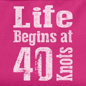 Life Begins at 40 Knots  - Kids' Backpack