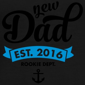 New Dad Est. 2016 - Rookie Dept. (Anchor) Krus & tilbehør - Herre premium T-shirt