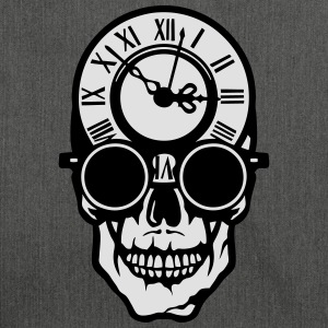 Skull death head clock halloween 2203 T-Shirts - Shoulder Bag made from recycled material