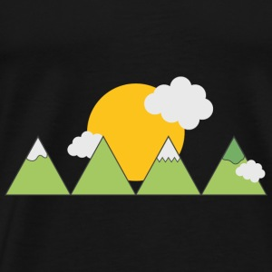 Mountain landscape Baby Long Sleeve Shirts - Men's Premium T-Shirt