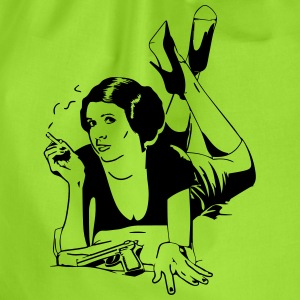 Pulp Fiction meets Leia from Start Wars Shirt - Turnbeutel