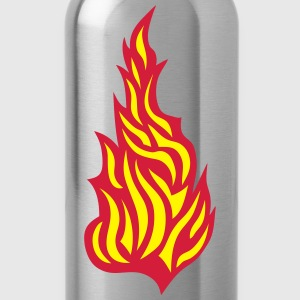 21032 Flamme Feuer T-Shirts - Trinkflasche