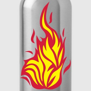 1032 Flamme Feuer T-Shirts - Trinkflasche