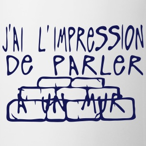 impression parler mur citation Tabliers - Tasse