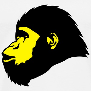 Head monkey profile 18032 Hoodies & Sweatshirts - Men's Premium T-Shirt