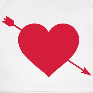 Heart pierced arrow 1703 Long Sleeve Shirts - Baseball Cap