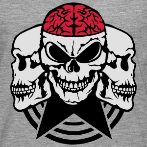 Skull brain wing 2 T-Shirts - Men's Premium Longsleeve Shirt