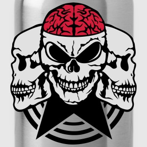Skull brain wing 2 Shirts - Water Bottle