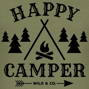 HappyCamper wide Other - Men's Slim Fit T-Shirt