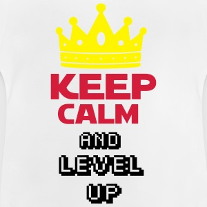 KEEP CALM AND  LEVEL UP Tee shirts - T-shirt Bébé