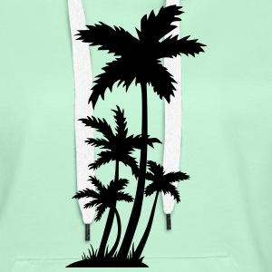palm trees T-skjorter - Premium hettegenser for kvinner