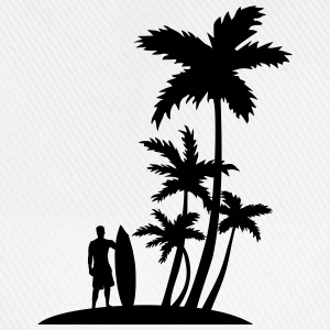 Palm trees and surfer T-Shirts - Baseball Cap