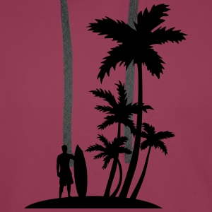 Palm trees and surfer T-Shirts - Men's Premium Hoodie
