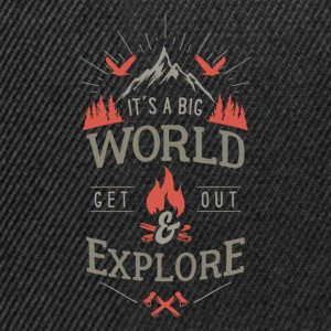 get out & explore Pullover & Hoodies - Snapback Cap