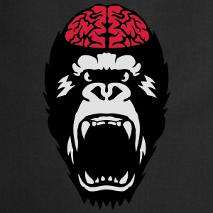 gorilla brain open mouth T-Shirts - Cooking Apron