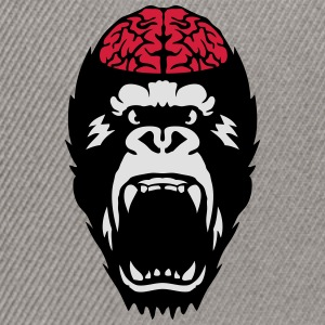 gorilla brain open mouth T-Shirts - Snapback Cap