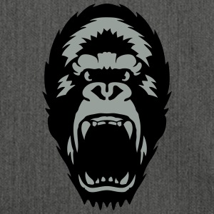 gorilla open mouth 1603 T-Shirts - Shoulder Bag made from recycled material