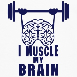 i muscle my brain quote Sports wear - Men's Premium Longsleeve Shirt