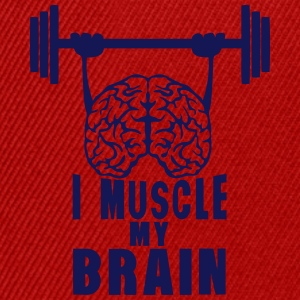 i muscle my brain quote T-Shirts - Snapback Cap