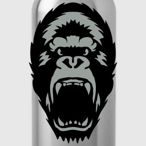 gorilla open mouth 1603 Shirts - Water Bottle