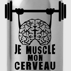 muscle cerveau cervelle citation haltere Tee shirts - Gourde